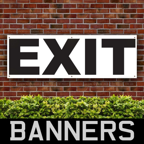 EXIT Outdoor Emergency Exit Signs PVC Banner
