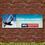 Watch Live Football Here 1 PVC Banner