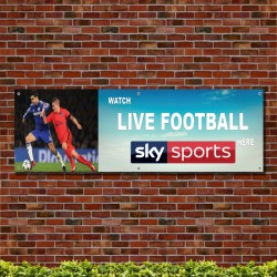 Watch Live Football Here 2 PVC Banner