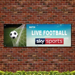Watch Live Football Here 3 PVC Banner