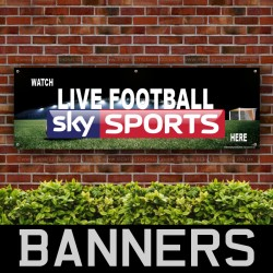 Watch Live Football Here 5 PVC Banner