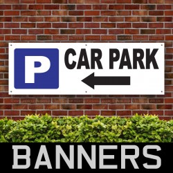 Car Park Left Arrow PVC Banner