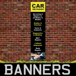 Car Mechanic PVC Banner
