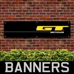 GT Bicycles Black PVC Banner