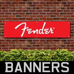 Fender Guitars PVC Banner