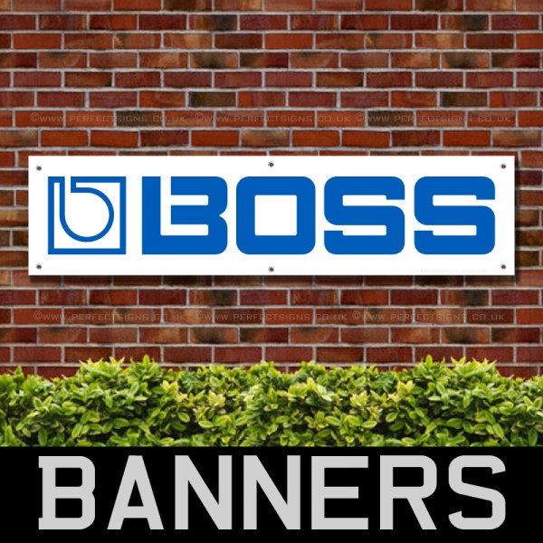 Boss Effects Guitars PVC Banner