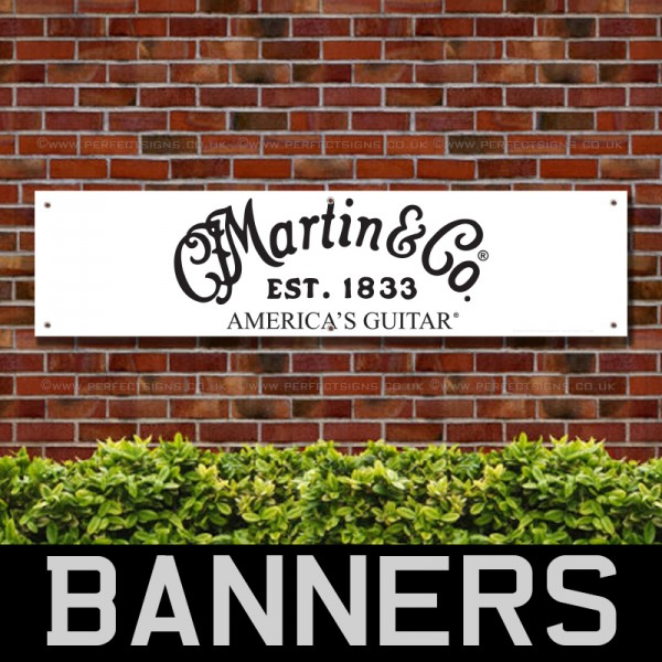 Martin and Co Americas Guitars PVC Banner