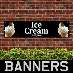 Ice Cream Sold Here PVC Banner