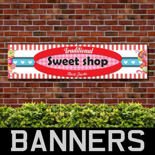 Traditional Sweet Shop PVC Banner