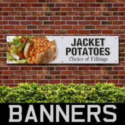 Jacket Potatoes PVC Banner
