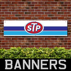 STP Oil Racing PVC Banner