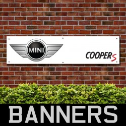 Mini Coopers PVC Banner