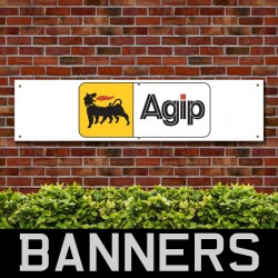 AGIP Racing Fuel PVC Banner