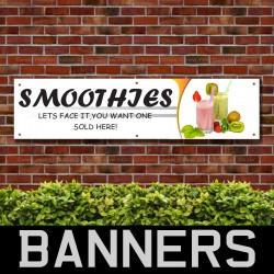 Smoothies Drinks PVC Banner