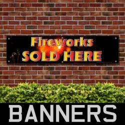 Fireworks Sold Here PVC Banner