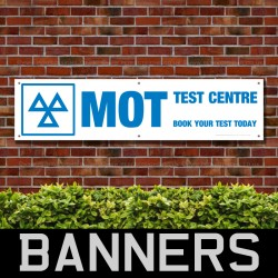 MOT Test Centre Book Your Test Today PVC Banner