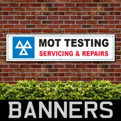 MOT Testing Servicing And Repairs PVC Banner