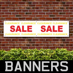 Sale Clearance Red Yellow PVC Banner
