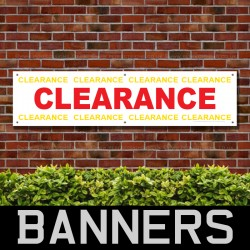 Clearance Red Yellow PVC Banner