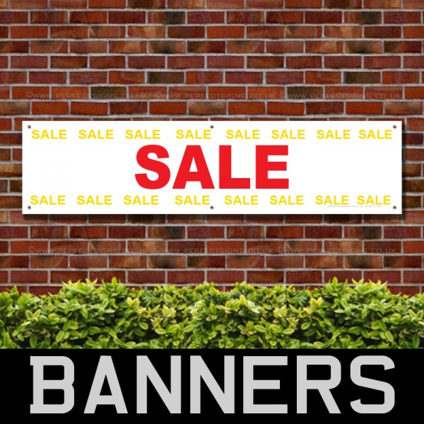 Sale Red Yellow PVC Banner