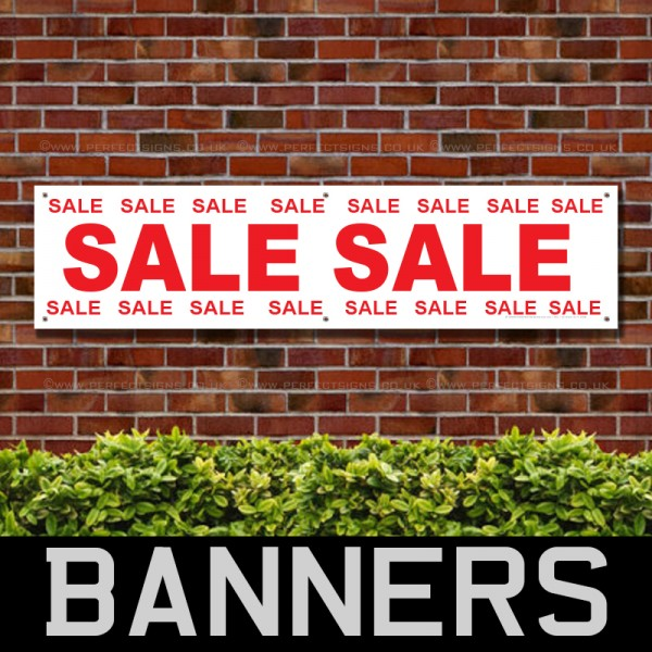 Sale Red PVC Banner