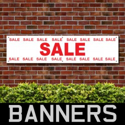 Sale Sale Red PVC Banner