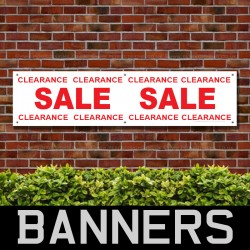 Sale Clearance Red PVC Banner