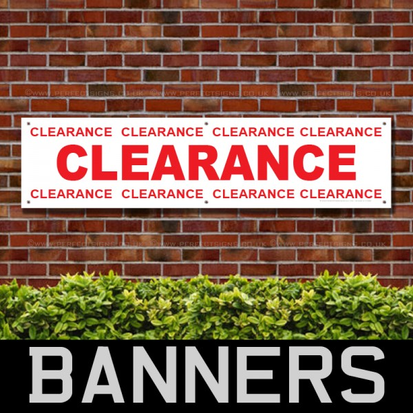 Clearance Red PVC Banner