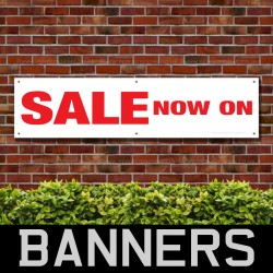 Sale Now On PVC Banner