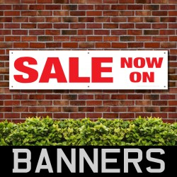 Sale Now On Red PVC Banner