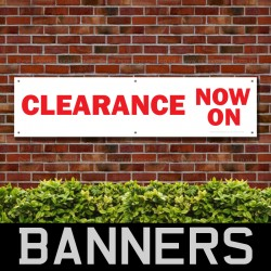 Clearance Now On PVC Banner