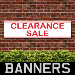 Closing Down Clearance Everything Must Go Red PVC Banner