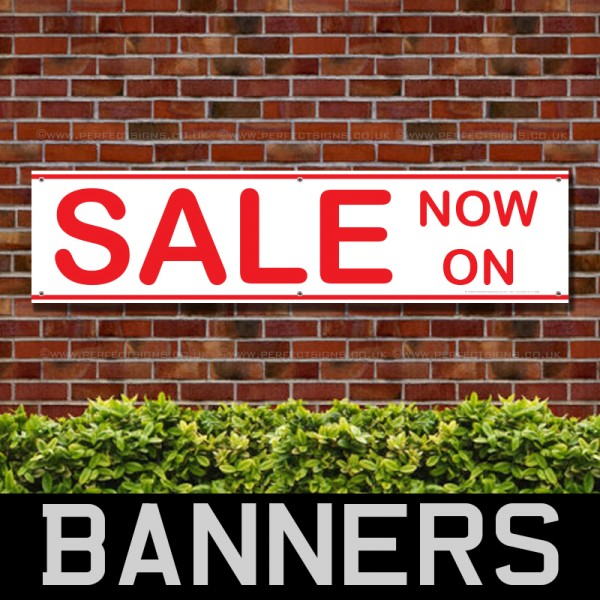 Sale Now On Red Line PVC Banner