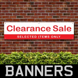 Clearance Sale Selected Items Only PVC Banner