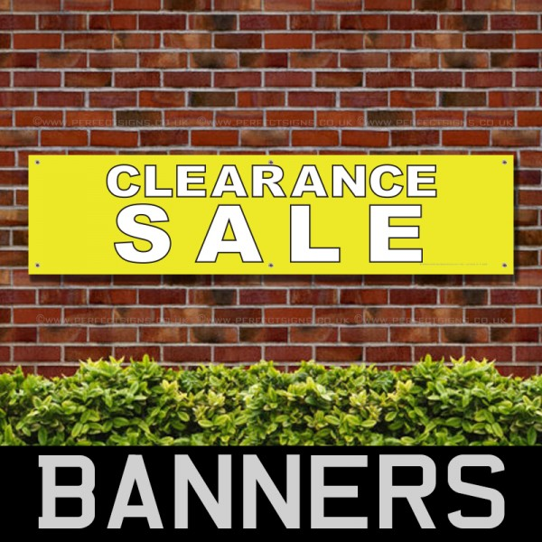 Clearance Sale Yellow PVC Banner