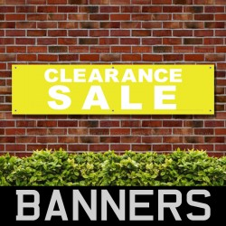 Clearance Sale Yellow White PVC Banner
