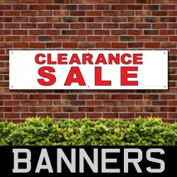 Clearance Sale Red Black PVC Banner