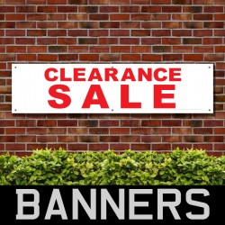 Clearance Sale Red PVC Banner
