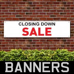 Closing Down Sale Red Black PVC Banner
