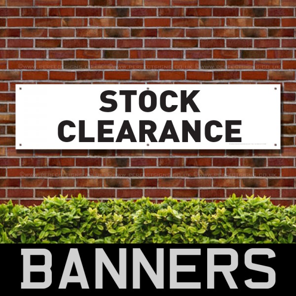 Stock Clearance Black White PVC Banner