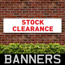 Stock Clearance Red PVC Banner