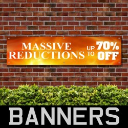 New Seasons Stock Just Arrived PVC Banner