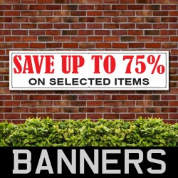 Save Upto 70 Percent PVC Banner