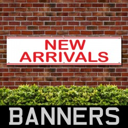 New Arrivals PVC Banner