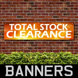 Total Stock Clearance PVC Banner