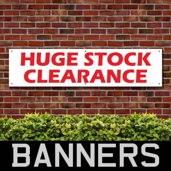Huge Stock Clearance PVC Banner