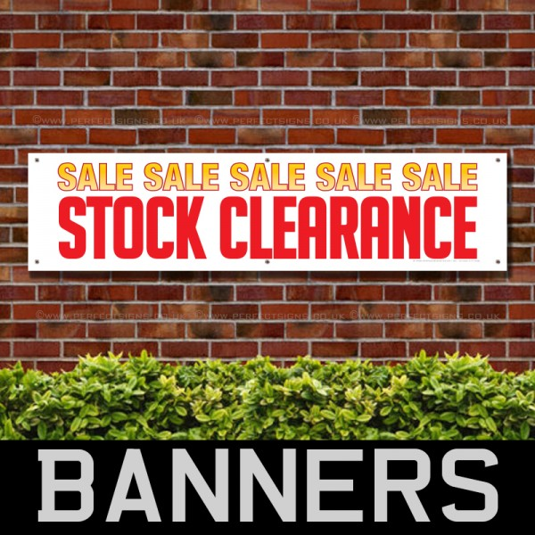 Sale Sale Stock Clearance PVC Banner