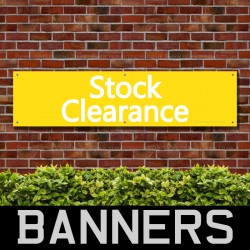 Stock Clearance Yellow PVC Banner