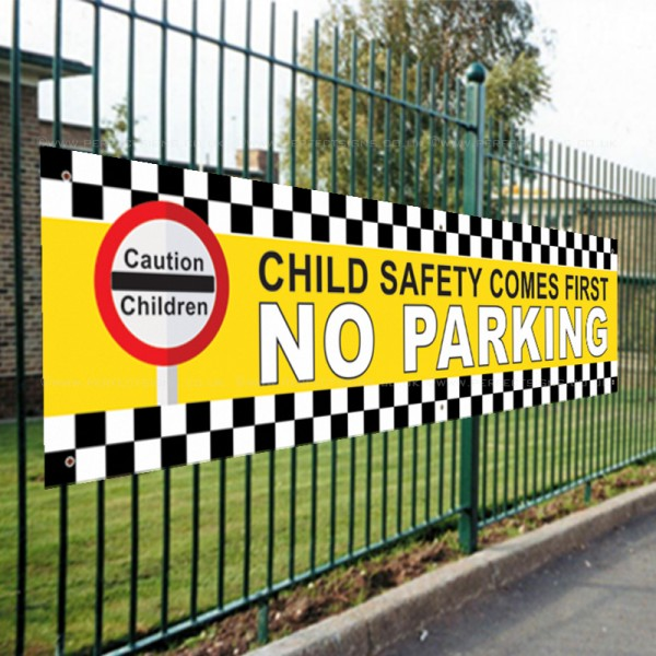Child Safety Comes First PVC Banner