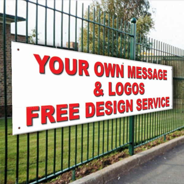 Your Own Message & Logos Free Design Service PVC Banner